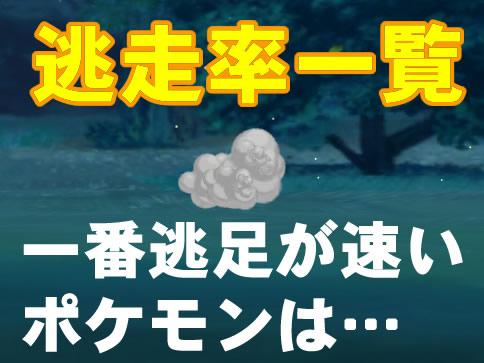 【ポケモンGO】逃走率一覧表!ポケモンが逃げる確率について