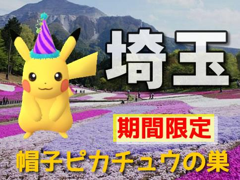 【ポケモンGO】埼玉の帽子ピカチュウの巣(最新の出現場所)