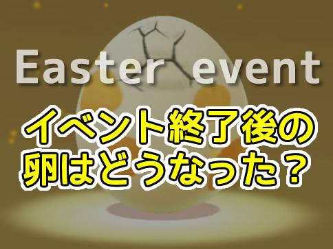 イベント終了後の卵